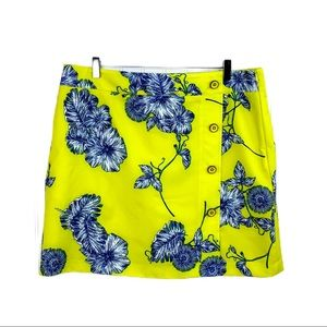 EP Pro Yellow Blue Floral Tennis Golf Skorts • 14
